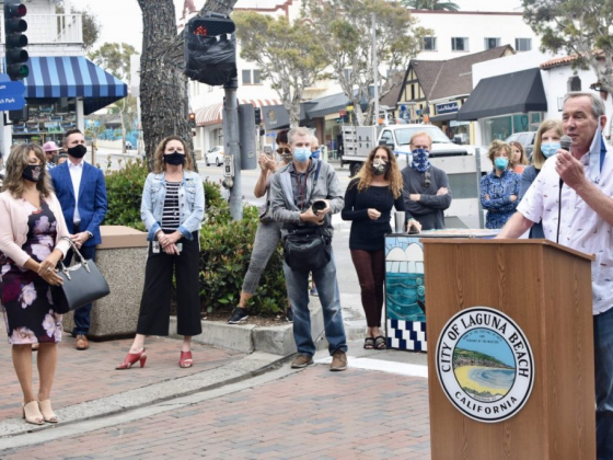 Laguna Beach Promenade on Forest Opened Monday, June 15 with Ribbon Cutting